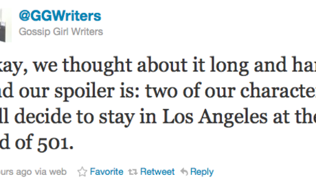 Two Gossip Girl Characters to Stay in L.A.?