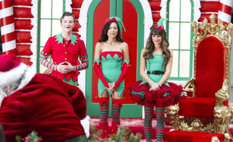 Christmas Time on Glee