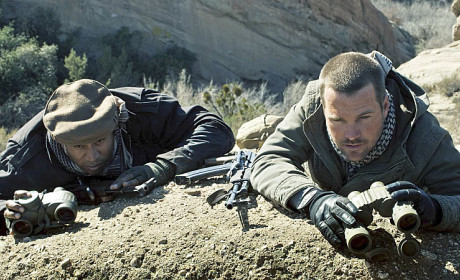 Sam and Callen in Afghanistan
