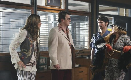 Who do you think had the best '70s transformation on this episode of Castle.