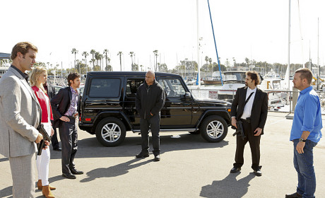 Sam and Callen in a Face Off