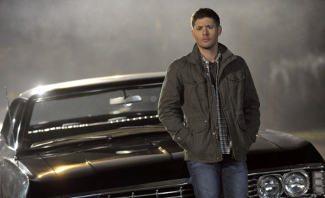 Dean Leaning on the Impala