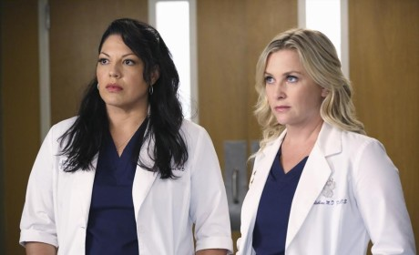 Callie and Arizona on Season 11 - Grey's Anatomy