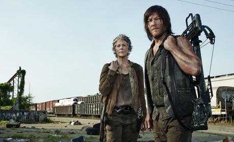Daryl and Carol in The Walking Dead Season 5