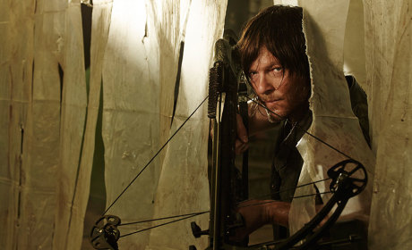 With His Crossbow - The Walking Dead