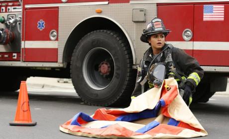 Dawson readies the inflatables - Chicago Fire Season 3 Episode 9