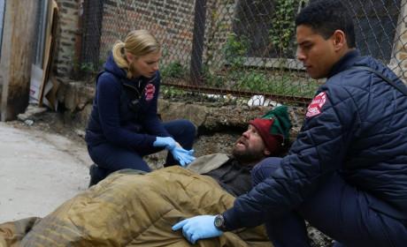 Brett and Mills save an elf - Chicago Fire Season 3 Episode 10