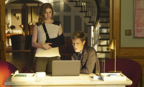 Emily and Nolan Plotting - Revenge Season 4 Episode 11