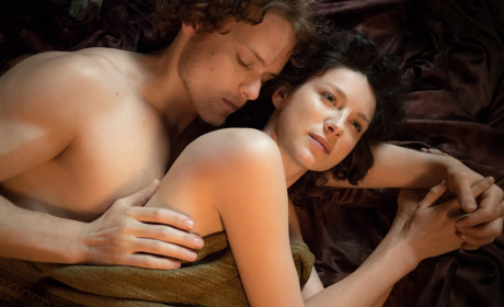 Claire and Jamie in Bed - Outlander