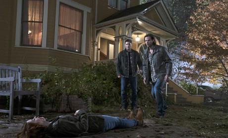 Sam, Dean and Charlie - Supernatural Season 10 Episode 11