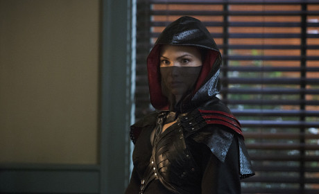 Nyssa in Costume - Arrow Season 3 Episode 16
