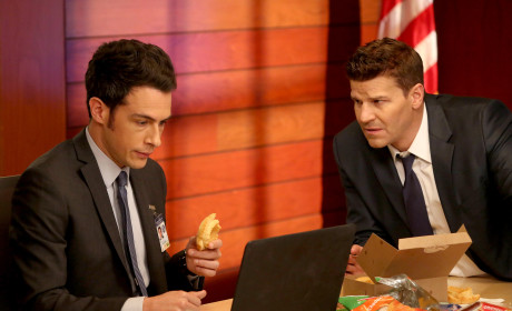 Aubrey and Booth Review the Evidence - Bones Season 10 Episode 11
