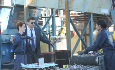 Booth Arrives With Coffee - Bones Season 10 Episode 15