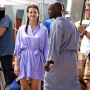 Kate Walsh, Taye Diggs on Private Practice Set