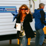 Shenae Grimes on Set