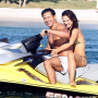 Karina Smirnoff and Mario Lopez Go for a Ride