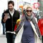 Katherine Heigl Smiles, Walks with Hubby