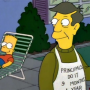 Bart and Skinner as Friends