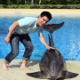 David Archuleta Pets a Dolphin