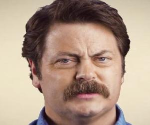 Nick Offerman Mustache PSA: It Gets Fuller!