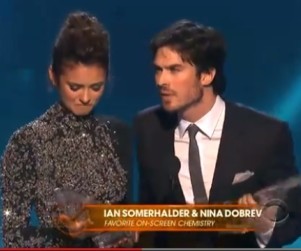 Ian Somerhalder and Nina Dobrev Win at People's Choice Awards, Joke About Break-Up