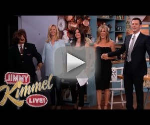 Friends Reunite on Jimmy Kimmel Live: It's Rachel, Monica and Phoebe!