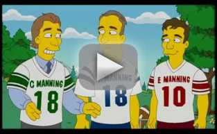 Eli and Peyton Manning on The Simpsons