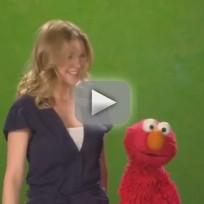 Ellen Pompeo on Sesame Street