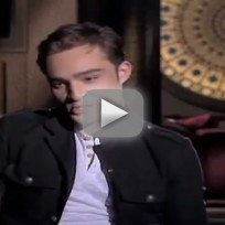 Ed Westwick Interview With CNN