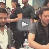Zachary Levi and Joshua Gomez at Comic Con 2011