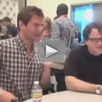 Chris Fedak and Ryan McPartlin at Comic Con