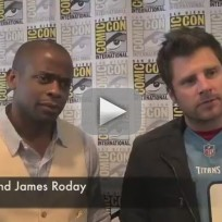 Dule hill and james roday at comic con