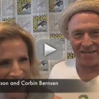 Kirsten Nelson and Corbin Bernsen at Comic-Con
