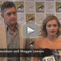 Timothy Omundson and Maggie Lawson at Comic-Con