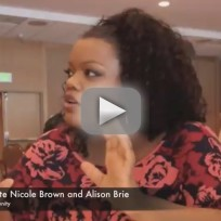 Yvette Nicole Brown and Alison Brie at Comic-Con