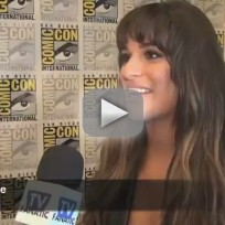 Lea michele comic con interview