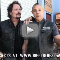 Theo Rossi and Kim Coates Hype The Boot Ride