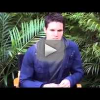 Robbie Amell Set Interview