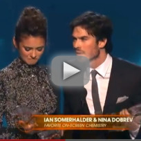 Ian Somerhalder and Nina Dobrev Win Best On-Screen Chemistry