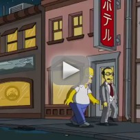 The simpsons pays tribute to anime