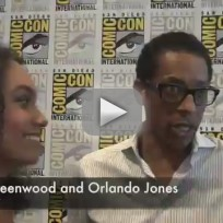 Lyndie Greenwood and Orlando Jones