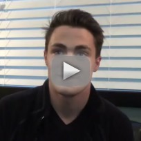 Colton haynes set interview