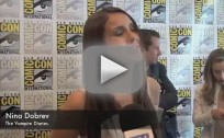 Nina Dobrev Raps at Comic-Con