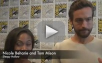 Nicole Beharie and Tom Mison at Comic-Con