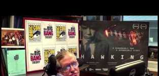 Stephen hawking introduces the big bang theory at comic con