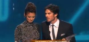 Ian somerhalder and nina dobrev win best on screen chemistry