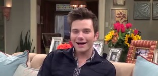 Chris Colfer Set Interview