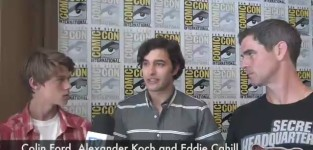 Colin ford alexander koch and eddie cahill interview
