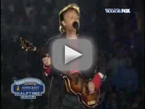 Paul McCartney at Super Bowl Halftime
