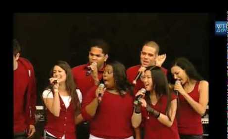 Glee at the White House